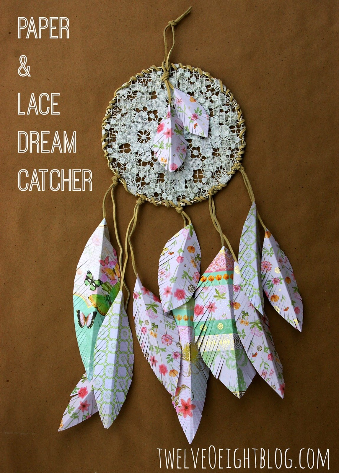 Dream Catcher Without Feathers Paper lace dream catcher for Abbie's room 6