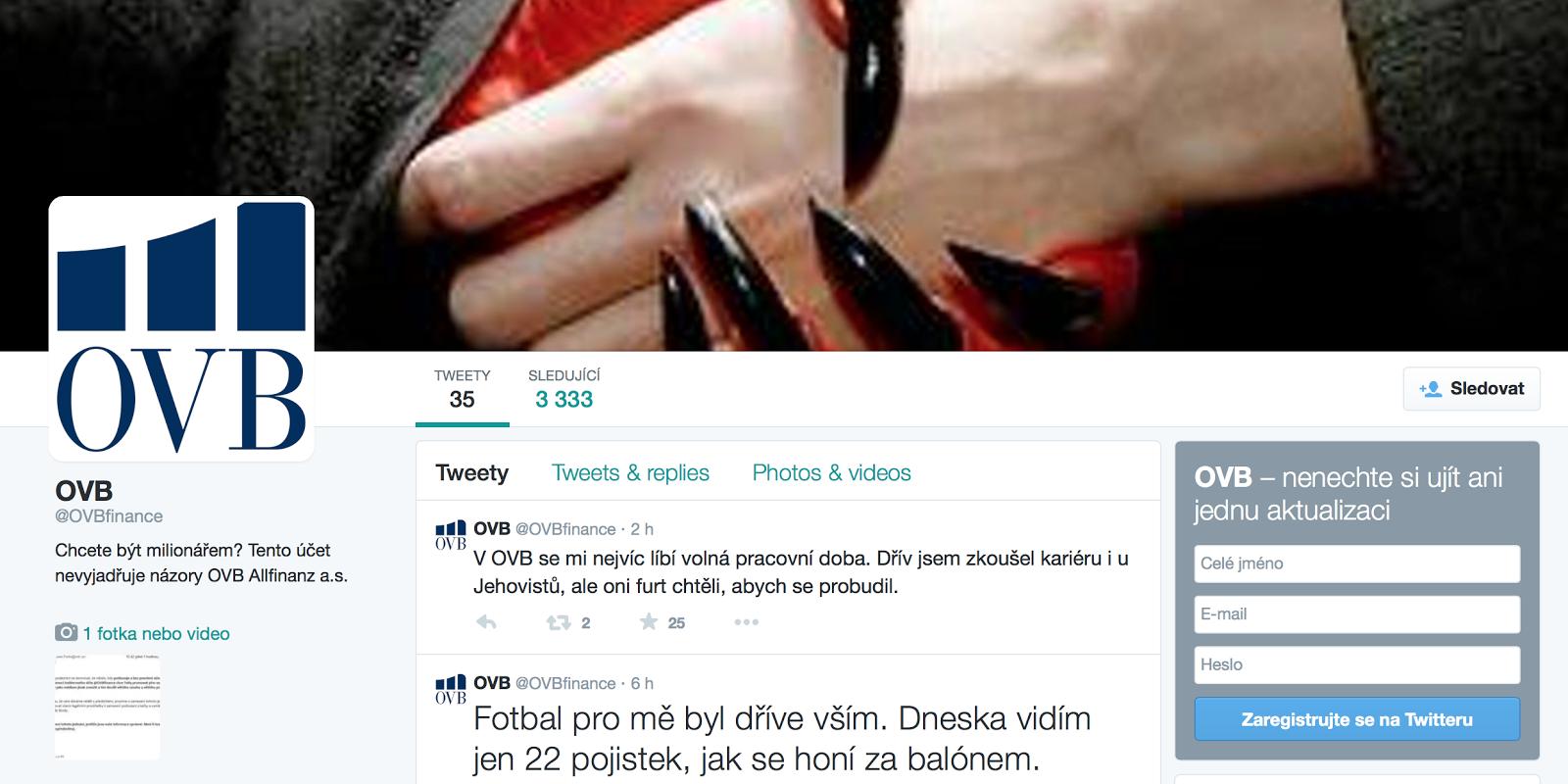 OVB - nejvtipnější profil na sociálních sítích