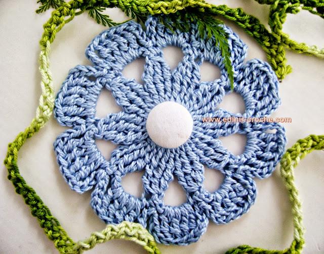 flor azul da coleção aprendi e ensinei com edinir-croche dvd video aula blog loja frete gratis