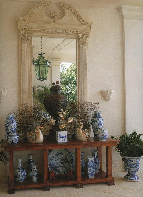 Blue And White Chinoiserie Entryway on oscar de la renta dominican republic