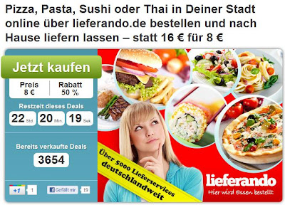 16 Euro-Lieferando-Gutschein bei DailyDeal für 8 Euro