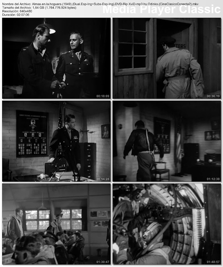 Secuencias de la pelicula:  Almas en la hoguera | 1949 | Twelve O'Clock High | Gregory Peck