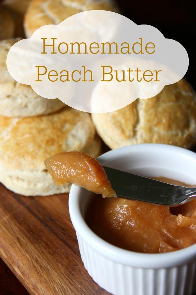 Homemade Peach Butter Recipe