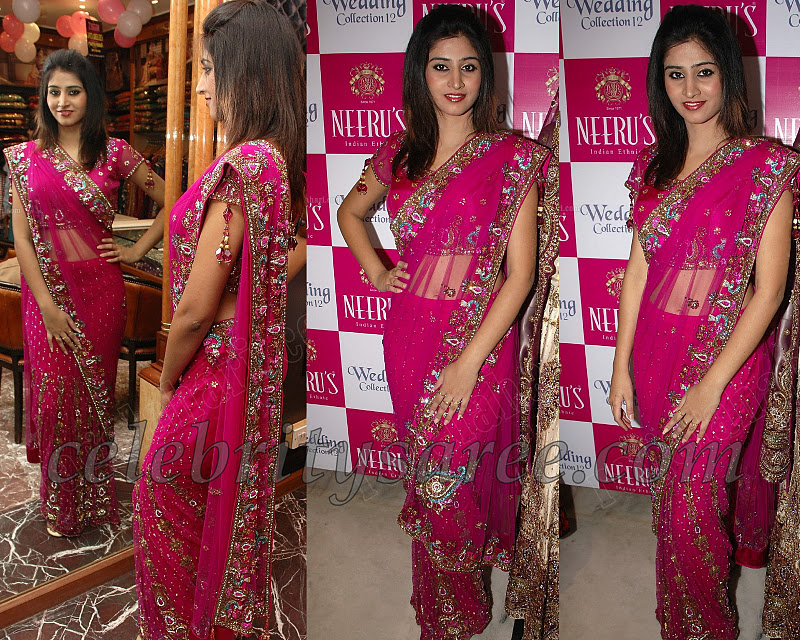 Shamili In Pink Neerus Lehenga Saree Saree Blouse Patterns