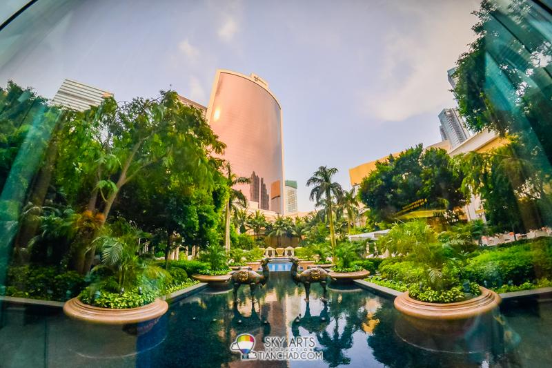 Wynn Macau's outdoor swimming pool