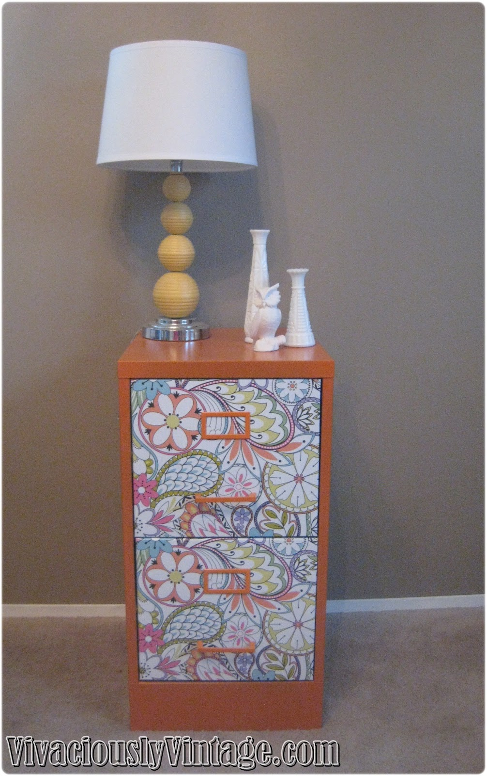 Cute Filing Cabinet Ansley Designs Fun Orange Filing Cabinet For Fall Yall