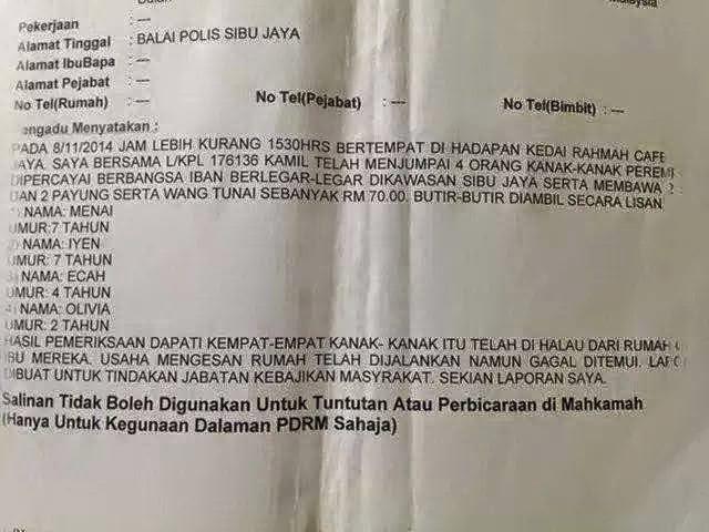 4 Beradik Di Halau Ibu & Di Tinggalkan  RM70 Utk Terus Hidup?