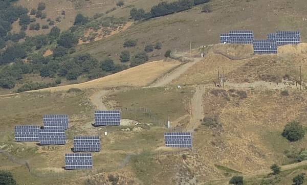 Un parc solaire industriel