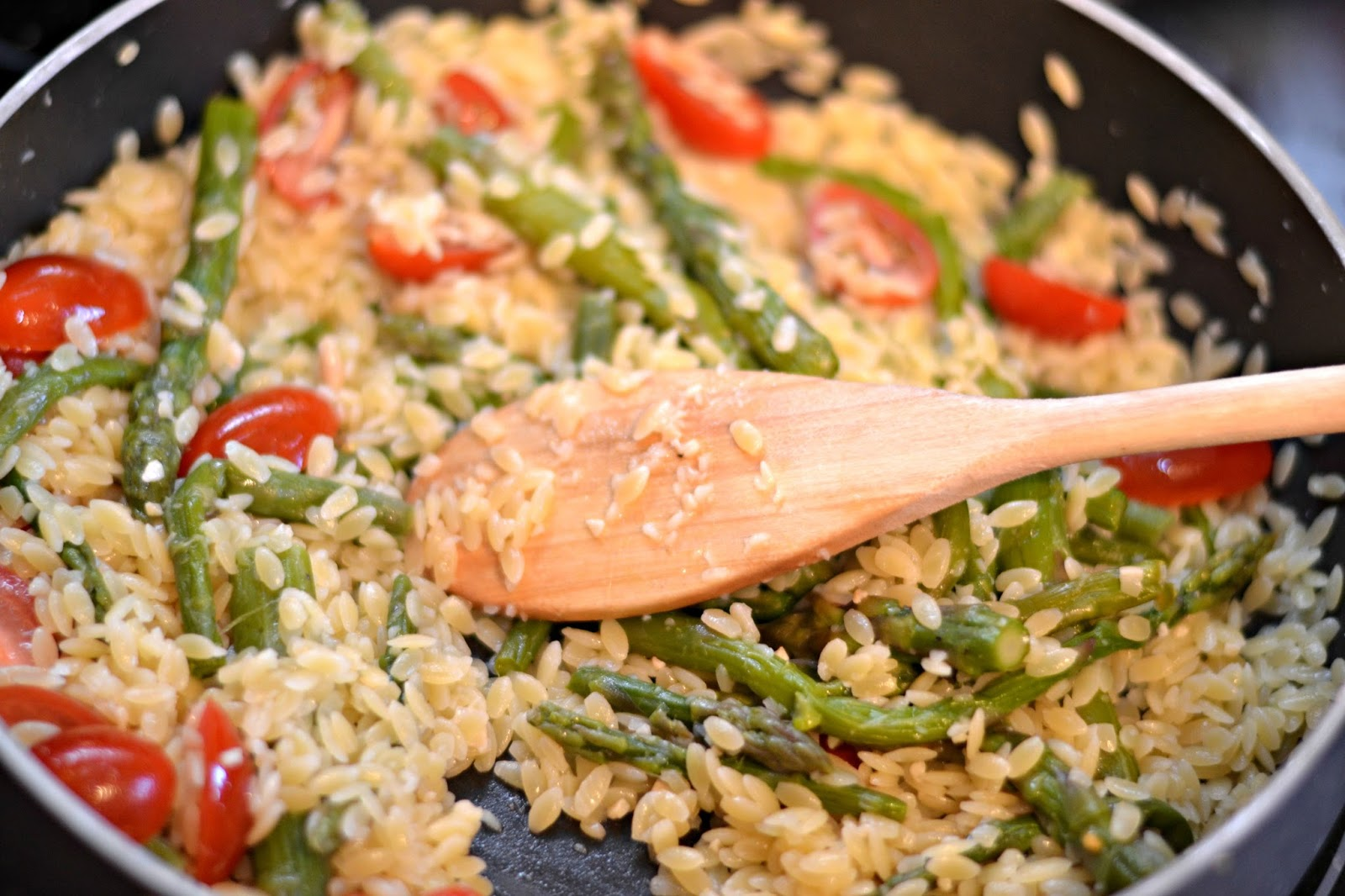 Salad, Lemon Orzo Salad, Lemon Orzo Salad with Asparagus and Tomatoes ...