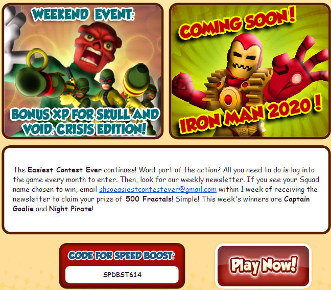 Super Hero Squad Online Codes 2014