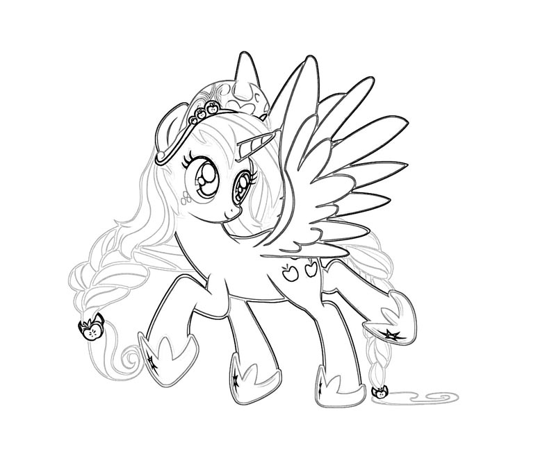 #45 My Little Pony Applejack Coloring Page