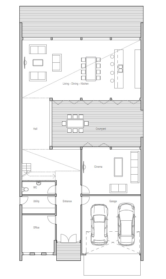 Australian house plans australian house plan ch112 for Modern australian house plans