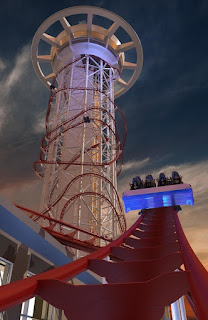Polercoaster Concept art for the Skyplex Orlando Plaza in Florida Roller Coaster thrill Ride Worlds Tallest