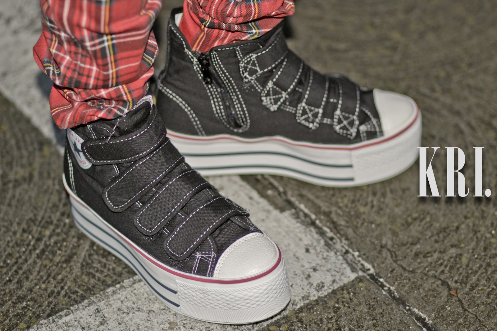 maxstar sneakers, boy london clothing, tripp nyc plaid pants