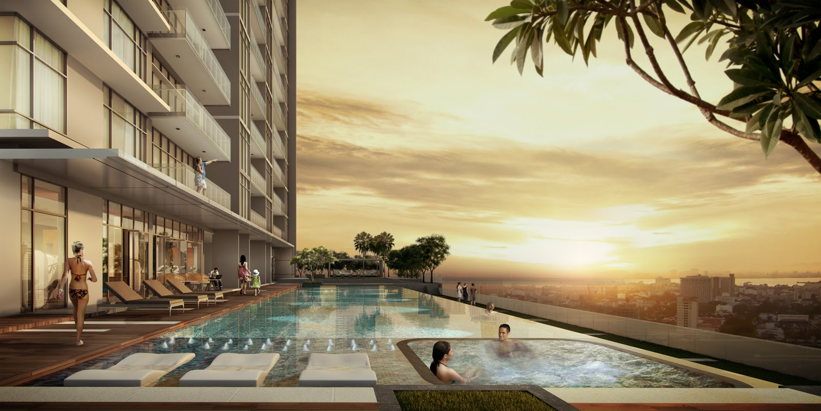 Property lover penang moulmein rise luxury suites for Garden city pool 2015