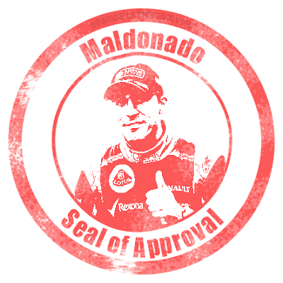 Pastor Maldonado seal of approval