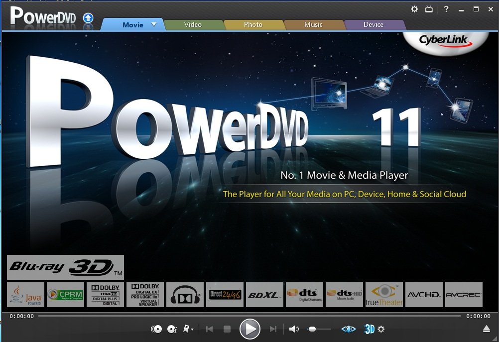 Download CyberLink PowerDVD Ultra v. 11.0.2024.53 Multilanguage
