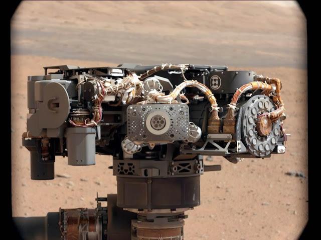 Instrumento de espectrômetro de Raio-X do Curiosity