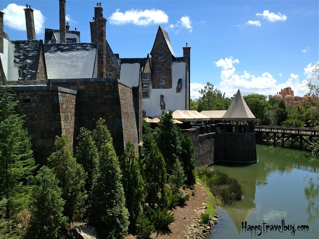 The back side of Hogsmeade at Harry Potter World