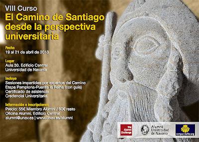 Cartel del programa del curso sobre el Camino de Santiago.