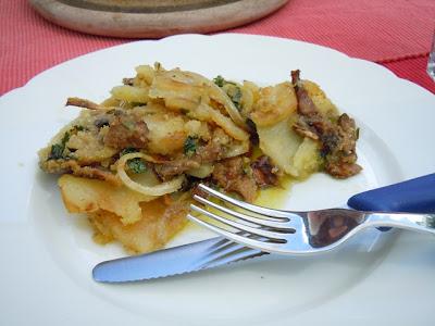 Картофельная запеканка с белыми грибами