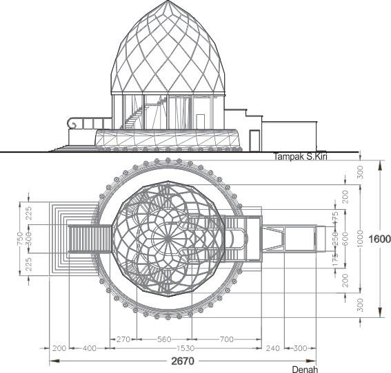 3dimensi glass pavillion