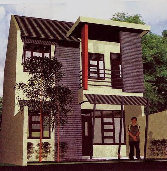 Gambar Rumah 2 Lantai Luas Tanah 72 M2 - tampak depan