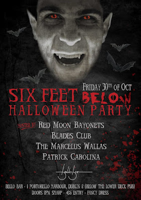 Red Moon Bayonets Six Feet Below Halloween Party
