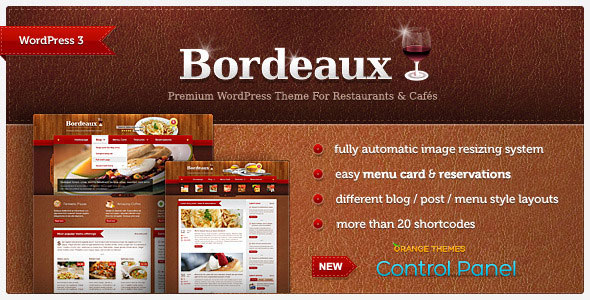 Bordeaux - Premium Restaurant WordPress Theme Free Download by ThemeForest.