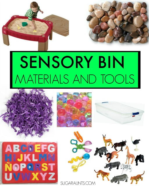 Ghost sensory bin with cute bread tie ghost craft.  Lots of sensory bin tips and tools in this post, from an Occupational Therapist, including why sensory bins are so great for kids with and without sensory issues!