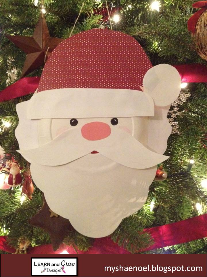 Little Blonde and Little Red also love making paper chain countdowns for special occasions. & Learn and Grow Designs Website: Santa Paper Plate Craft Santa ...