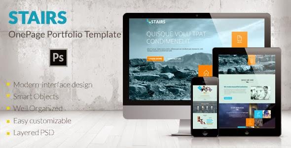 Onepage PSD Portfolio Template
