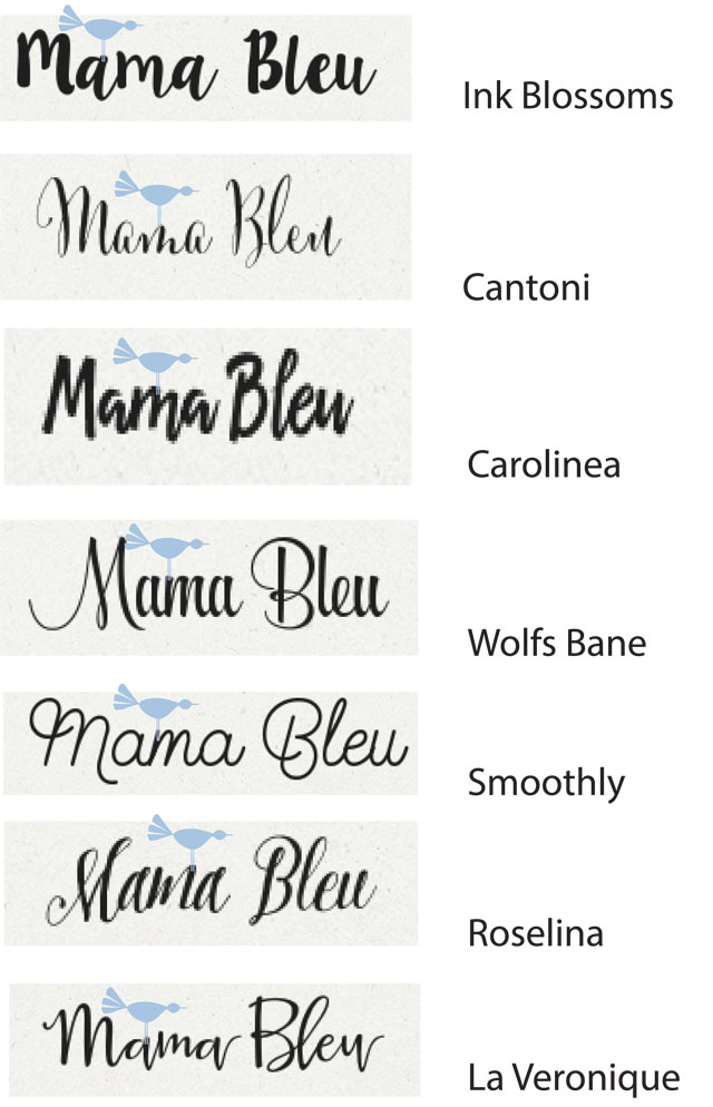 Choosing a Font www.mamableu.com