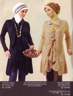 Model Baju Gamis Batik Kombinasi Brokat Busana Muslim 2014