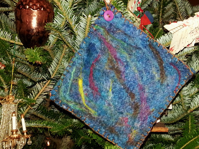 abstract needle felted potholder