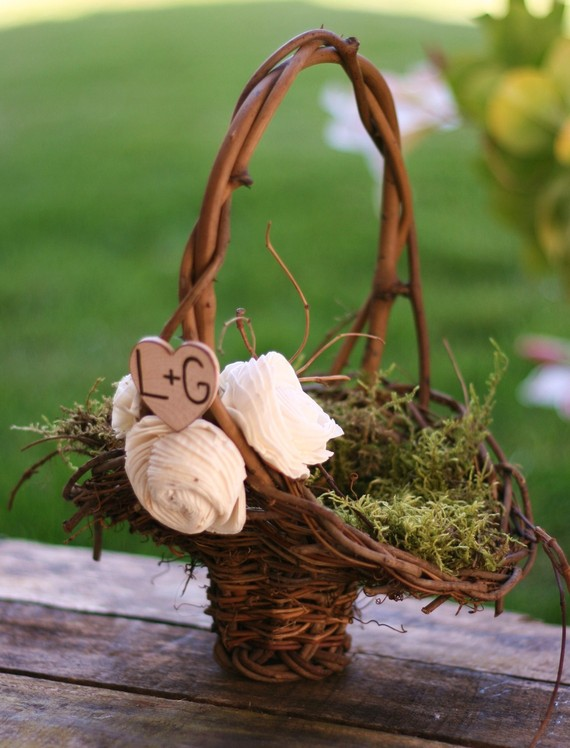 How To Make Flowers Girl Basket : Kortney shane s wedding flower girl basket ideas