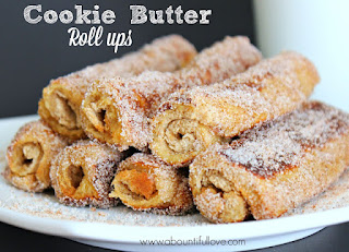 Cookie Butter Roll Ups