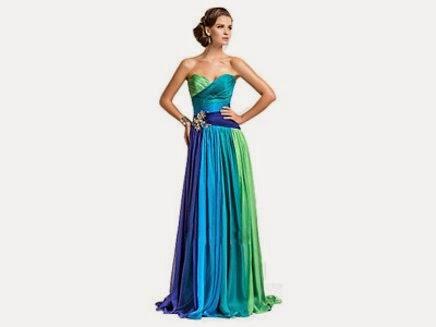 modelo de vestido longo tomara que caia colorido - dicas e fotos