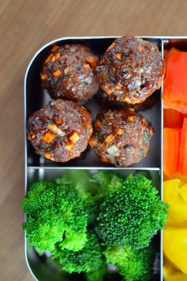 Asian Meatball Bento Lunch