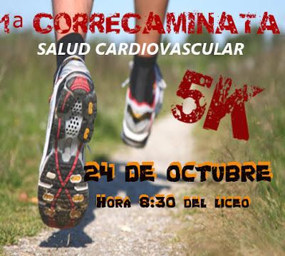 5k Correcaminata por la salud cardiovascular (Liceo de San Jacinto, Canelones, 24/oct/2015)