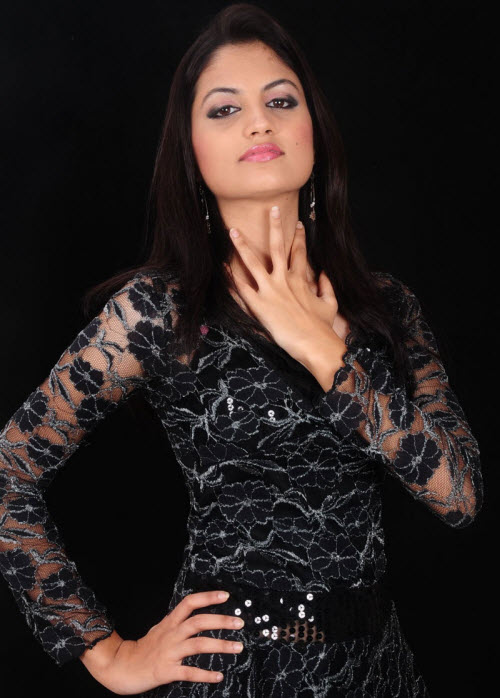 madhulika in black dress glamour  images