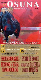 Feria de Osuna 2014 - Cartel Taurino
