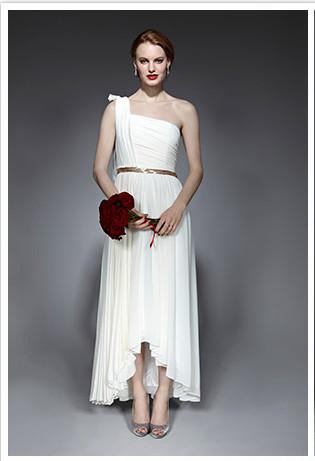 high low reception wedding dress