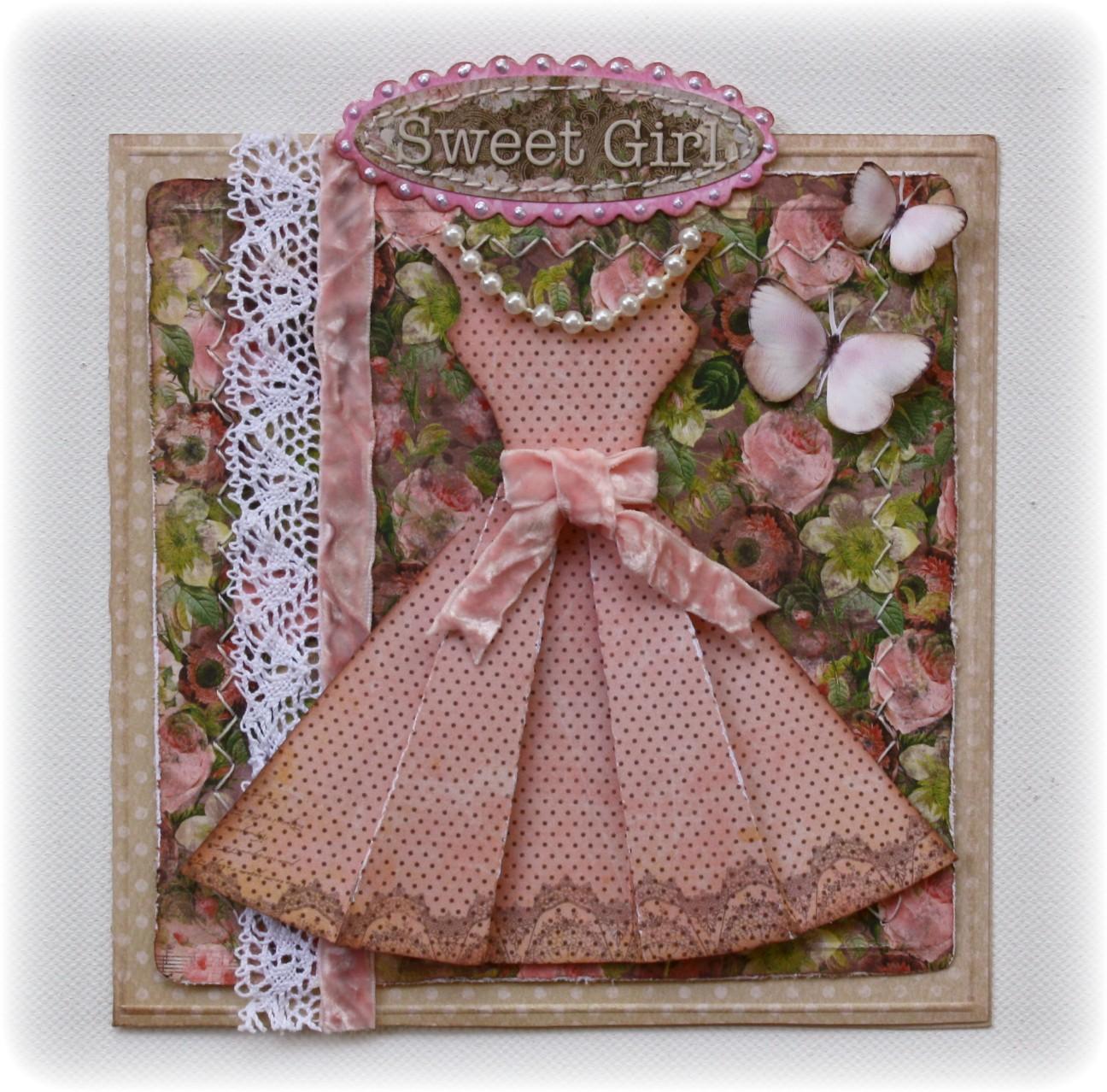Открытка платье своими руками с днем рождения