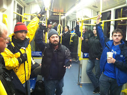 On the city train in Portland...