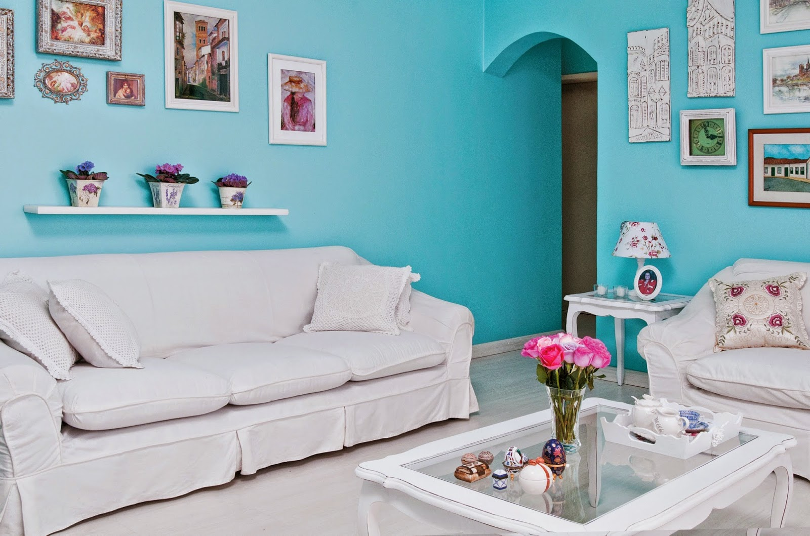 Lais raquel respire e se inspire azul turquesa s2 for Paredes azul turquesa