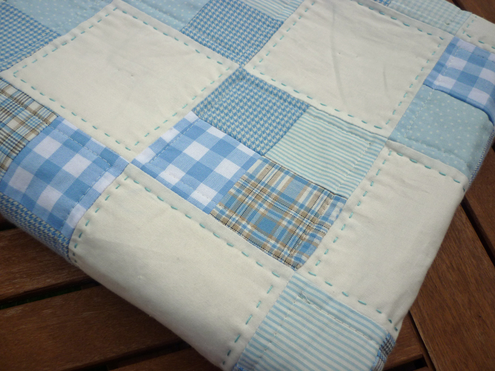 Mack And Mabel Easy Four Patch Baby Quilt