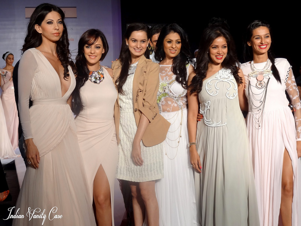 - hazel keech ramp walk - white dress