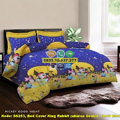 Harga Bed Cover King Rabbit (ukuran Double) Motif Mickey Jual