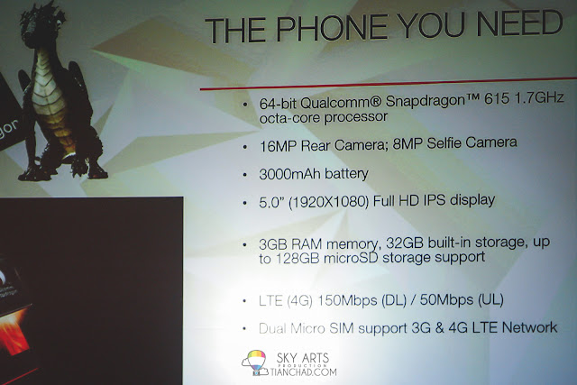 Specification for Lenovo VIBE Shot in Malaysia